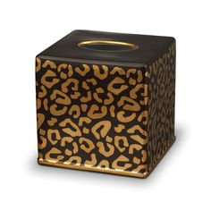 Gold Leopard Tissue Box from LObjet - Porcelain and 24K gold from www.us.amara.com