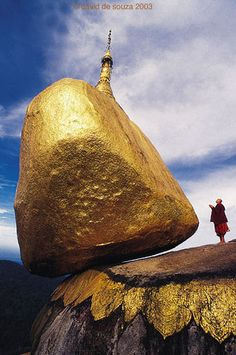 Golden Rock, Myanmar. #myanmar