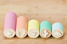 Stempel selber machen l Make Your Own Stamps And Never Stop Stamping Fun Crafts, Diy And Crafts, Crafts For Kids, Arts And Crafts, Paper Crafts, Make Your Own Stamp, Foam Stamps, Craft Stamps, Handmade Stamps