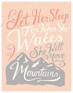 She Will Move Mountains Color Print by quietboystudio on Etsy