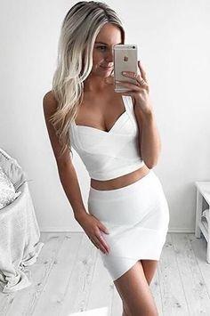 Summer Stretch V-Neck Tight Crops Tops Ladies Camisole Vest