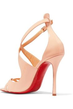 Christian Louboutin - Malefissima Patent-leather Sandals - Pastel pink - IT36.5