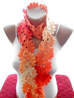 Crochet+Schal+aus+handgemachten+Häkelarbeit+Schals+von+bigsweetheart+auf+DaWanda.com