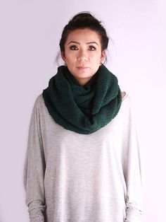 knit cowl Double Wrap Scarf knit scarf Loop by VeBelle on Etsy