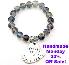 Use code HANDMADE for 20% Off all handmade inspirational jewelry! #HandmadeMonday www.cicinspireme.com