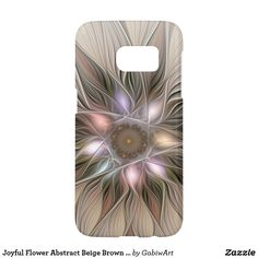 Joyful Flower Abstract Beige Brown Floral Fractal Samsung Galaxy S7 Case