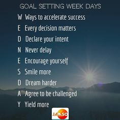 Mid week motivation day.  Wednesday has more letters in its name to help you find extra inspiration for your goals. Go and smash them.