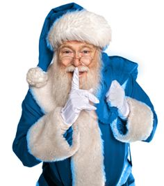 In Kentucky Santa wears blue....he's from here you know