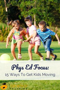 We all need to move more. Teaching kids to move throughout the day also encourages them to develop healthy habits that may stick with them through life. Whether you have phys ed duties with your students or simply want to get them moving to help them learn better, these phys ed games and ideas are sure to help.  #teachertips #physicaleducation #brainbreaks
