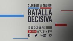 EN VIVO: Tercer debate presidencial entre Hillary Clinton y Donald Trump...