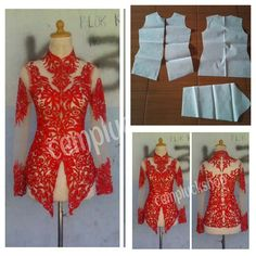 Kebaya outer pattern Order via line : @modelliste (with @) #modellistepattern #kebaya #kebayapattern #polakebaya #polabaju #pola #bajukebaya Clothing Patterns, Dress Patterns, Sewing Patterns, Model Kebaya Modern, Kebaya Brokat, Batik Kebaya, Fashion Details, Fashion Design, Different Dresses
