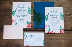 Bright, bold, and fresh invitation suite by Tart Event Co., photo by Jeffrey C. Gleason Photography! | See more on richmondweddingcollective.com