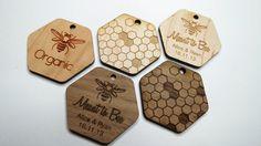 50 1.5 x 1.5 Honey Tags Custom Wedding Tags Wood by GrainDEEP, $36.78