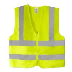 Neiko 53940A High Visibility Safety Vest with 2-Inch Reflective Strips, Mesh Fabric and Front Zip, Medium, Neon Yellow Neiko