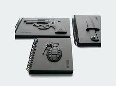 Caderno Unique Black 4 Series Armed - Revolver