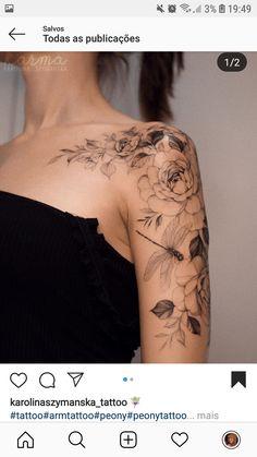 Karolina Szymańska ( Fotos und Videos auf Ins # f… Blumentattoos - Blumen Tattoos Designs - Flower Tattoo Designs - Best Sleeve Tattoos, Body Art Tattoos, Small Tattoos, Quarter Sleeve Tattoos, Rose Tattoos, Female Hand Tattoos, Tatoos, Lower Leg Tattoos, Girl Arm Tattoos