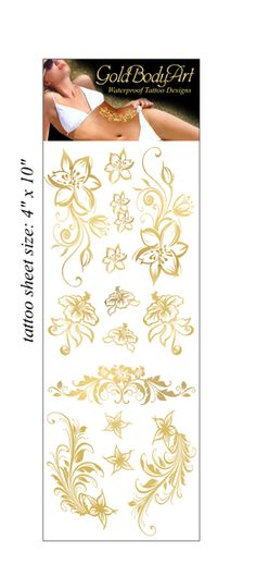 Enchanted Flowers Gold Tattoo Package