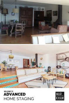 Before and After by Markham Stagers Barcelona. This property in the  Costa Brava was completely transformed and re-styled by Markham Stagers. Wow!  ///  [ ES ]  Antes y Después en esta maravillosa casa de la Costa Brava realizado por Markham Stagers Barcelona. Home Staging y estilismo inmobiliario completo. Wow! Home Staging, Villas, Brighten Room, Condo Interior Design, Accent Decor, Barcelona, Decorative Accents, Furniture, Home Decor