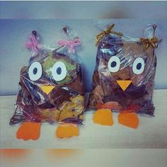 plastic bag owl craft