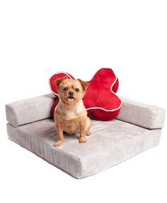 Suede Pet Lounge Chair | POSH365INC #Pet #Bed #Gray