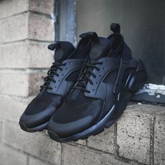 621aa64e97b46 Men s Huarache PRM Run Ultra in All Black Black Huraches