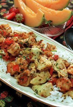 Shrimp With Artichokes