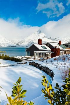 Winter at Matakauri Lodge in Queenstown, South Island, New Zealand ~ Oh The Places You'll Go, Places To Travel, Places To Visit, Beautiful World, Beautiful Places, Islas Cook, Queenstown New Zealand, Destination Voyage, New Zealand Travel