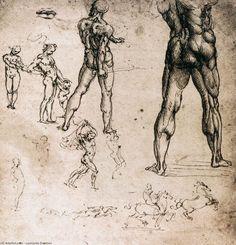 Leonardo Da Vinci-figur studien
