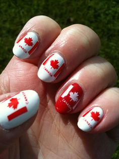And then we look at our Valentine's Day nail art those lovely manicured nails that look great but rather boring. Related Posts:adorable valentine's day nail art valentine nail designs Valentines Day Nails Designs nail art designs for women 2016 Related Cute Nails, Pretty Nails, Diy Nails, Patriotic Nails, Flag Nails, Nailart, Happy Canada Day, O Canada, Mani Pedi