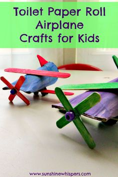 Toilet Paper Roll Airplane Crafts for Kids - Sunshine Whispers