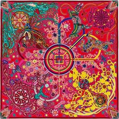 Hermes cashmere and silk shawl, 55