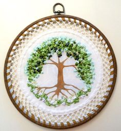 Hey, I found this really awesome Etsy listing at https://www.etsy.com/listing/287492673/embroidered-ribbons-picture-tree