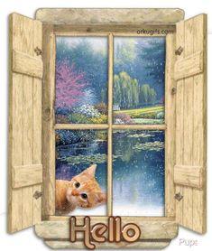 good morning home gif Hug Gif, Gif Animé, Good Morning Good Night, Good Morning Quotes, Morning Pictures, Morning Images, Gif Mignon, Cute Gifs, Hallo Kitty