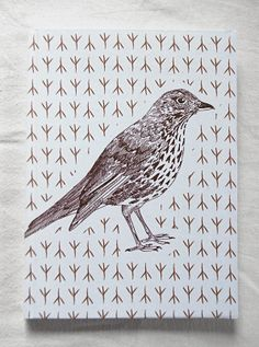 Song thrush notebook by Fish without a Bicycle