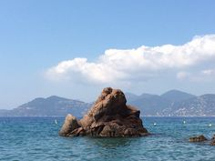 View from beach at Cannes