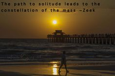 The path to solitude leads to the constellation of the mass ~Zeek