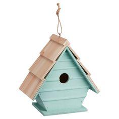 Sfeervol houten vogelhuis. Kleur: groen. Afmeting: 22x21 cm (bxh). Verkrijgbaar in diverse kleuren. #vogelhuis #LenteKwantum #tuin