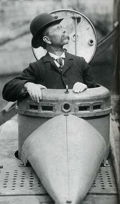 John Philip Holland (Irish) developed the first submarine.