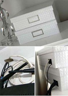 Ideas para ocultar las cosas feas dentro de casa.   Mil Ideas de Decoración