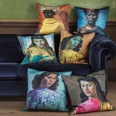 Tretchikoff Cushions - Cushions  Throws - Treat Your Home - Home Accessories