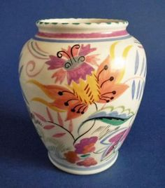 Poole Pottery ZG Pattern Vase by Truda Carter c1937