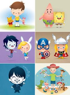 ilustrações fofas do Jerrod Maruyama Kawaii Disney, Anime Kawaii, Cute Disney, Disney Dream, Disney Magic, Disney Fan Art, Disney And Dreamworks, Disney Pixar, Disney Babys