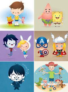 Doces Expressões: As ilustrações fofas do Jerrod Maruyama