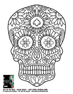 day of the dead dia de los muertos sugar skull coloring pages colouring adult detailed advanced printable kleuren voor volwassenen coloriage pour adulte - Cinco De Mayo Skull Coloring Pages