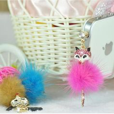 Cute little fox universal  mobile phone accessories phone dust plug pendant accessories headphones dust plug //Price: $US $2.49 & FREE Shipping //     #ipad
