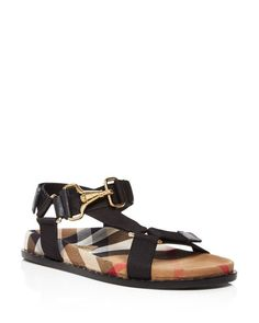 Burberry Ardall Check Ankle Strap Sandals