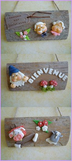 welcome sign : wood & clay - Im going to do this!