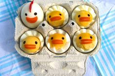 As Easter quickly approaches, the search for easy deviled egg recipes becomes more and more popular. From traditional deviled eggs to recipes made fun and. Boiled Chicken, Chicken Eggs, Easter Recipes, Egg Recipes, Candy Recipes, Funny Eggs, Spring Treats, Childrens Meals, Food Decoration