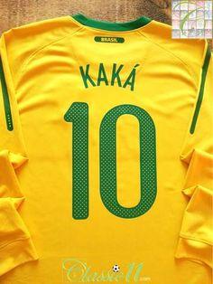 02f95aea5e5 Classic Brazil Football Shirts · Official Nike Brazil home long sleeve football  shirt from the 2010/11 international season.