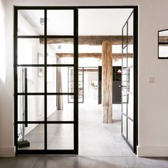 A simple black framed door to make all the difference in your space. It blends amazingly w | OnInStagram